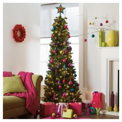 Tesco is offering two instant trees – a six-foot pop-up at £30 and a four-foot tree for £ The pole is taken out of the box and branches are formed from a spiral of tinsel hanging from it.