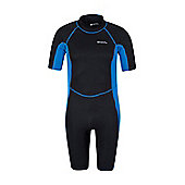 Mens Shorty Neoprene Surf Summer Wet Suit Wetsuit - Electric blue