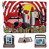 Streetslips Limited Edition Diva Tablet Case Universal up to 8 Inch Vibrant Print Unique Functionality SSD8 5060236109859