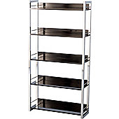 Home Essence Boston Five Shelf Bookcase/Display Unit - Black