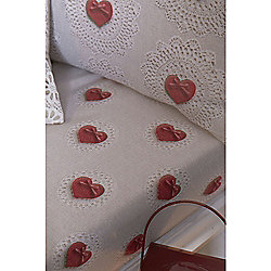Catherine Lansfield Cosy Corner Doily Hearts Fitted Sheet - Double