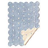 Lorena Canals Galleta Blue-Beige Reversible Children's Rug - 120 cm W x 160 cm D (3 ft 11 in x 5 ft 3 in)