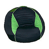X-Rocker Giant Deluxe Sound Beanbag Gaming Chair - Green/Black