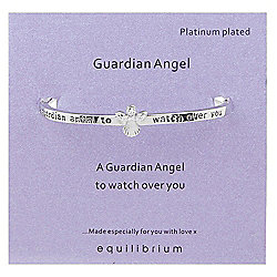 Guardian Angel Platinum Plated Bangle