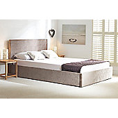 "Emporia beds Ottoman Storage Bed Frame - Double (4' 6"") - Natural Stone"