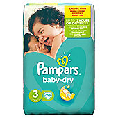 Pampers Baby Dry Size 3 Large Pack - 70 nappies