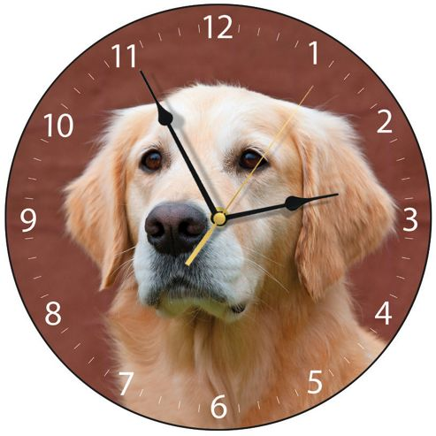 Smith & Taylor Golden Retriever Dog Wall Clock
