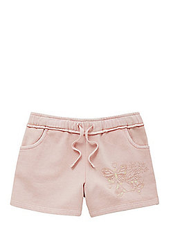 F&F Butterfly Sequin Sweat Shorts - Pink