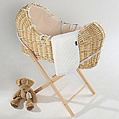 Isabella Alicia Natural Izzy-Pod Moses Basket (Dimple Cream)
