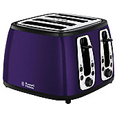 Russell Hobbs 19164 4 Slice Toaster - Purple