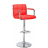 Havana Red Faux Leather Bar Stool