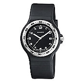M-Watch Swiss Made Maxi Black Mens Date Display Watch - A661.30615.20.01