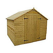 9ft x 8ft Windowless Pressure Treated T&G Apex Shed + Double Doors
