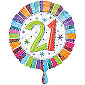 Radiant 21st Birthday Foil Balloon 18""