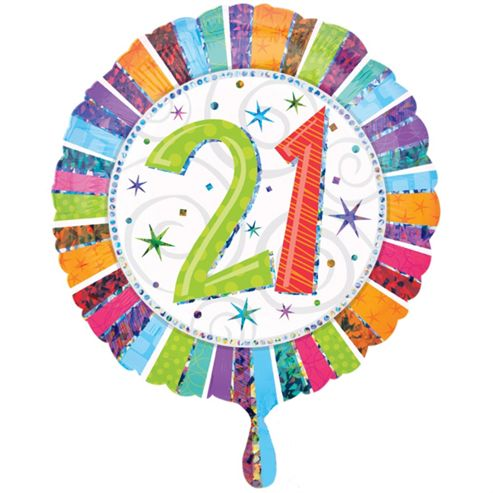 Radiant 21st Birthday Foil Balloon 18