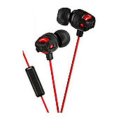 JVC Xtreme Xplosives Headphones with Remote & Microphone Red