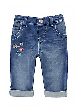 F&F Embroidered Jeggings - Blue