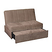 Sweet Dreams Wick 2 Seater Convertible Sofa Bed - Chocolate