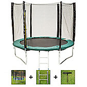 Up and About 8ft Stormpower Green Trampoline Package with Free Ladder, Weather Cover and Building Tool