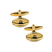 Gold Plated Rugby Ball Cufflinks