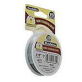 "Beadalon 19 Strand Wire .018"" Bright 30ft (9.2m)"