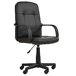 Lucca Black Faux Leather Office Chair