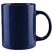 Tesco Plain Single Stoneware Mug, Navy