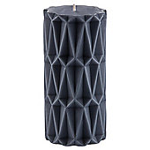 Tesco Pillar Candle Large Grey