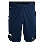 2014-15 France Nike Longer Knit Shorts (Navy) - Navy