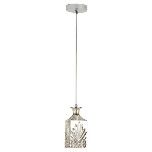 Decanter Glass Ceiling Pendant, Champagne