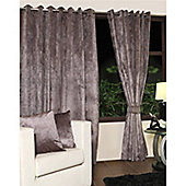 KLiving Eyelet Verbier Lined Curtain 65x72 Charcoal