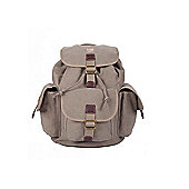 TRP0268 Troop London Heritage Large Canvas Backpack Brown