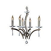 Crystal Pendant Lighting Fitting with Antique Brass Metalwork