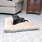 K and H Pet Thermo Bed Quilted - Sage/Tan - 3cm H x 24cm W x 19cm D
