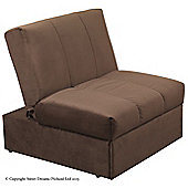 Sweet Dreams Wick 1 Seater Convertible Sofa Clic Clac Chair - Chocolate