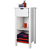 Sennen Open Storage Cabinet, White