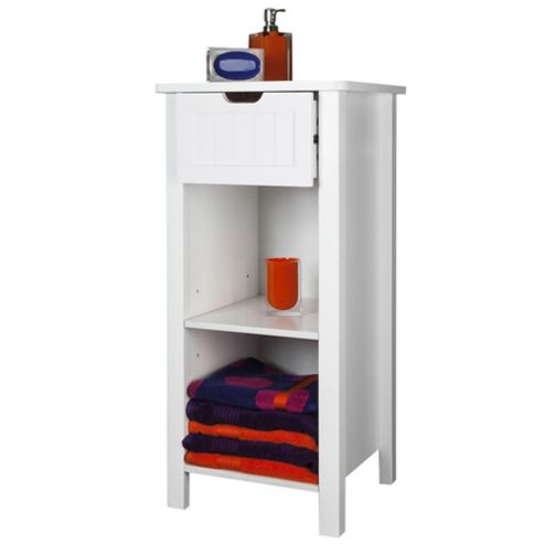 Buy sennen open storage cabinet white from our bathroom for Bathroom cabinets tesco