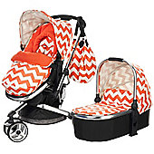 Obaby Chase 3 in 1 Stroller and Carrycot - ZigZag Orange