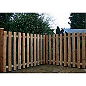 4FT Pressure Treated Palisade Square Top Fencing Panels - 1 Panel Only 4'