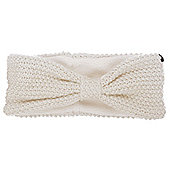 Audio Knitted Bow Headband Cream