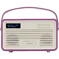 View Quest Retro ColourGen DAB+/FM Radio with iPod Dock (Radiant orchid, 30 Pin)