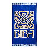 Biba Big Logo Royal Blue Beach Towel