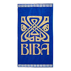 Biba Big Logo Royal Blue Beach Towel