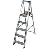 TB Davies Industrial Aluminium 5 Tread Platform Step Ladder