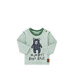 F&F Mummy's Baby Bear Long Sleeve T-Shirt 12 - 18 months Green