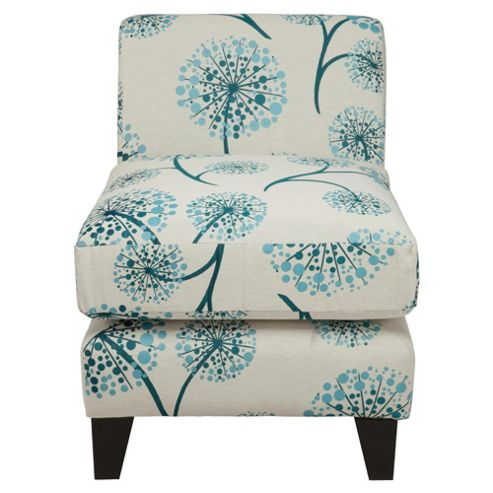 Dandelion fabric accent chair teal