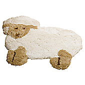 Rugs with Flair Nursery Little Lamb Natural Novelty Rug - Novelty Shaped 75cm x 80cm