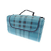 Country Club Picnic & Beach Blanket 130 x 150cm, Blue Tartan