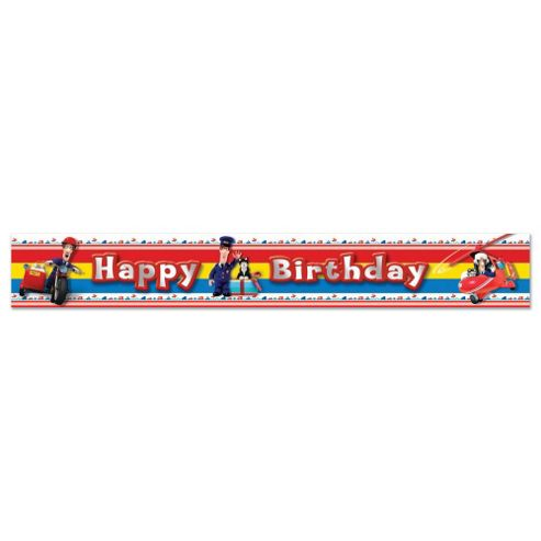Postman Pat Happy Birthday Party Banner - Amscan