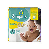 Pampers New Baby Size 3 Midi Nappies (4-9kg/9-20lbs) - 29 Pack